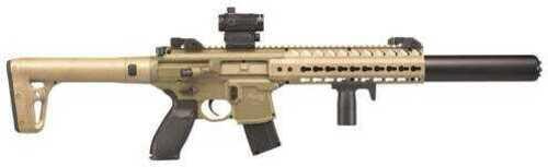 """Sig Sauer Airguns AIRMCX177 MCX Air Co2 177 Pellet 18"""" 30Rd Flat Dark Earth"""