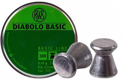RWS Diabolo Basic Line .177 Pellets 300 ct. Model: 2317398