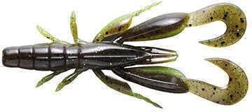 "Jackall Lures Chunk Craw Soft Craw Bait Lure 3 1/2"" Body Length, Green Pumpkin Chartreuse, Per 6 Md: JCHUN35-GPCH"
