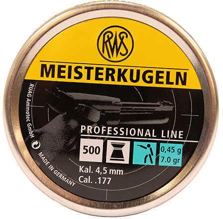Umarex USA RWS Meisterkugeln Pistol Pellets .177 Caliber, 7 Grains, Per 500 Md: 2315034