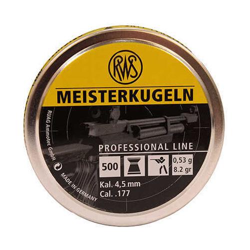 Umarex USA RWS Meisterkugeln Pistol Pellets .177 Caliber, 8.2 Grains, Wadcutter, Per 500 Md: 2315030