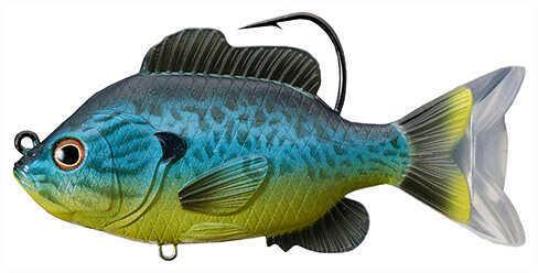 "LiveTarget Lures Sunfish Swimbait Freshwater, 5"" Length, 1 1/3 oz, 1'-8' Depth, Blue/Yellow Pumpkinseed, Per 1 Md: SFS13"