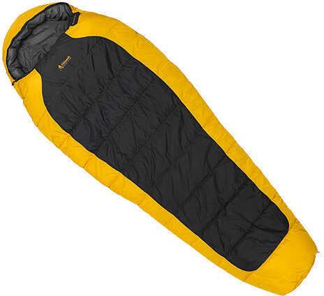 Chinook Mummy Sleeping Bag Everest Peak III 5° F, Yellow/Charcoal Md: 20613