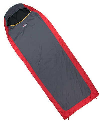 Chinook Mummy Sleeping Bag Everest Micro II 32° F, Red/Gray Md: 20631