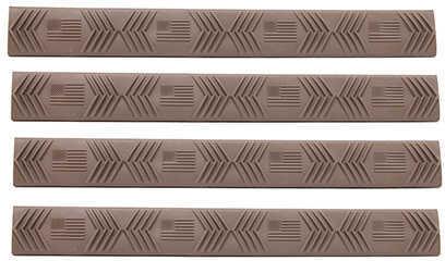Ergo Keymod 7 Slot Wedgelok Rail Covers American Flag, Dark Earth, Package of 4 Md: 4330-4PK-(FLAG)-DE