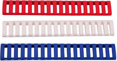 Ergo 18 Slot Ladder Low Pro Rail Covers Red, White, and Blue, Per 3 Md: 4373-3PK-RWB
