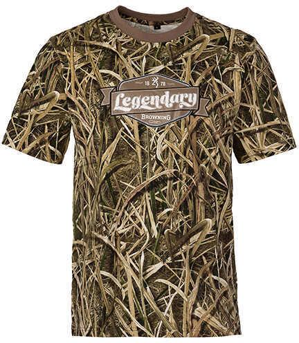 Browning Graphic T-Shirt, Short Sleeve Legendary, Mossy Oak Shadow Grass Blades, Medium