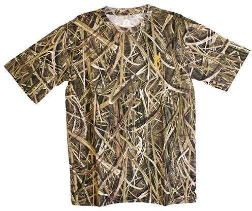 Browning Wasatch-CB Short Sleeve Shirt Mossy Oak Shadow Grass Blades, Small