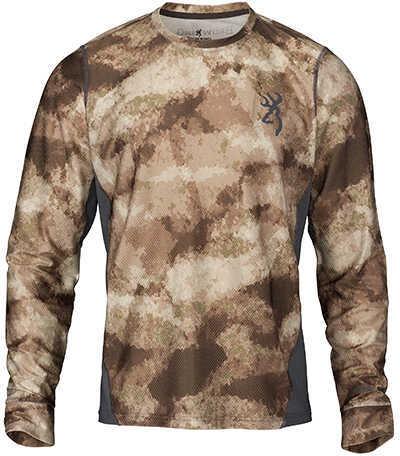 Browning Hell's Canyon Speed Plexus-FM Long Sleeve Mesh Shirt ATACS Arid/Urban, Large