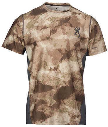 Browning Hell's Canyon Speed Plexus-FM Short Sleeve Mesh Shirt ATACS Arid/Urban, Large