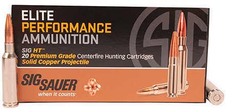 Sig Sauer Elite Performance Ammunition 6.5 Creedmoor, 120 Grains, Solid Hollow Point, Per 20