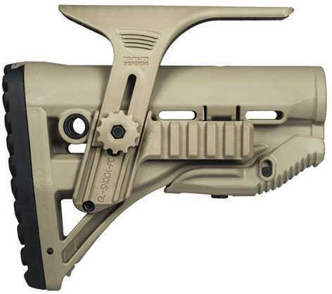 Mako Group Recoil Reducing M4/AR-15 Stock Adjustable Cheek Riser with Picatinny Rail, Flat Dark Earth Md: GL-ShockPCP-FD