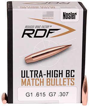 Nosler 6.5mm RDF Match Bullets, 130 Grains, Boat Tail, Per 100