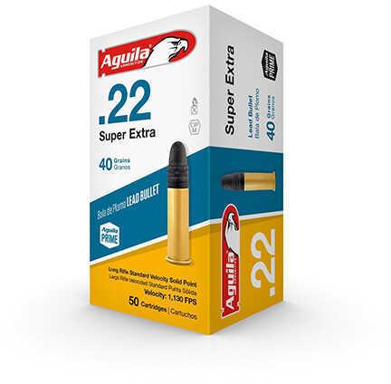 Aguila Ammunition Rimfire 22LR 40 Grain Solid Point Standard Velocity 50 Round Box 1B222332