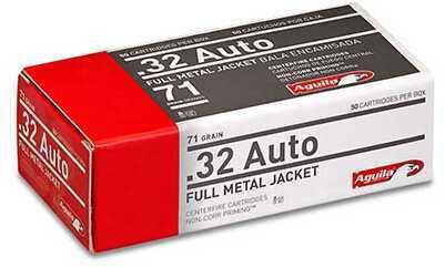 Aguila Ammunition .32 Auto, 71 Grains, Full Metal Jacket, Per 50