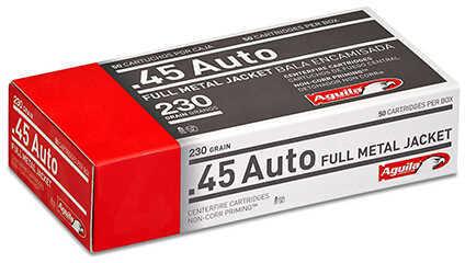 Aguila Ammunition .45 Auto, 230 Grains, Full Metal Jacket, Per 50