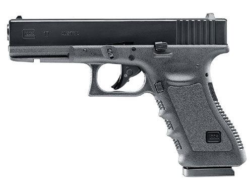 RWS/Umarex 2255208 Glock 17 Gen3 .177 BB 18 Rd Black Textured Grip/Frame Grip