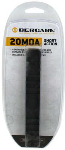 Bergara 20MOA Rail Fits Remington 700 Short Action Includes Both 6X48 Screws and 8X40 Screws BA0008