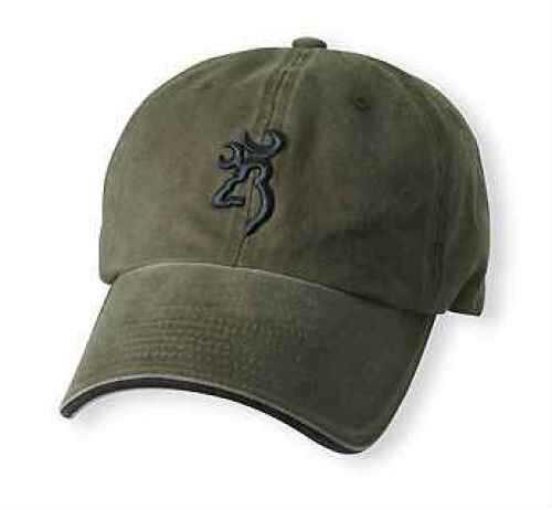 Browning Twill Cap 3D BuckMark, Olive Md: 308304841