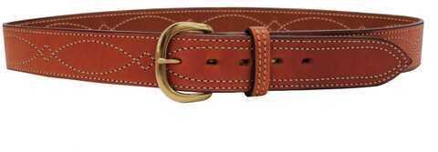 "Bianchi B9 Fancy Stitched Belt Tan, 44"" Md: 12299"