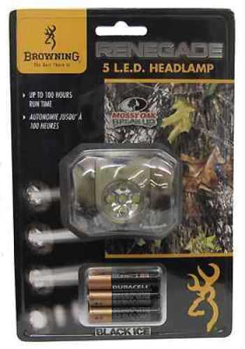 Browning Black Ice Renegade Headlamp 5 Watt Led, Mossy Oak New Break Up Md: 3718171