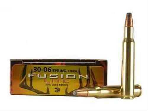 Federal 30-06 Springfield 170 Grain Soft Point Lite Fusion Per 20 Ammunition Md: F3006FSLR1