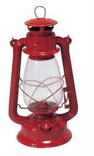 "Kerosene Hurricane Lantern 12"", Red Md: 127"