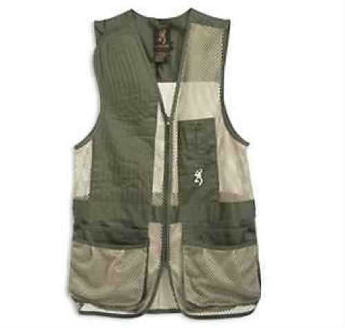 Browning Broken Birds Shooting Vest Pine/Tan, Large Md: 3050209403