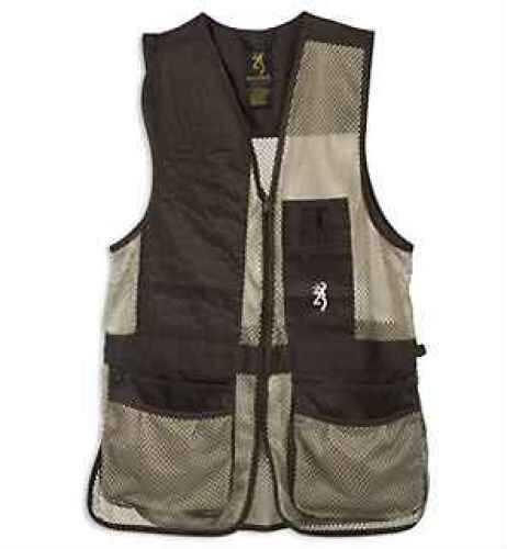 Browning Broken Birds Shooting Vest Black/Tan, Medium Md: 3050209902