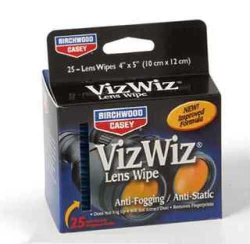 Birchwood Casey Viz Wiz Lens Cleaner VTA25, Take-Along 25 Md: 32125