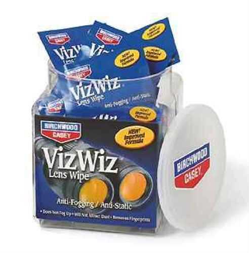 Birchwood Casey Viz Wiz Lens Cleaner VTA100, Take-Along 100 Md: 32170