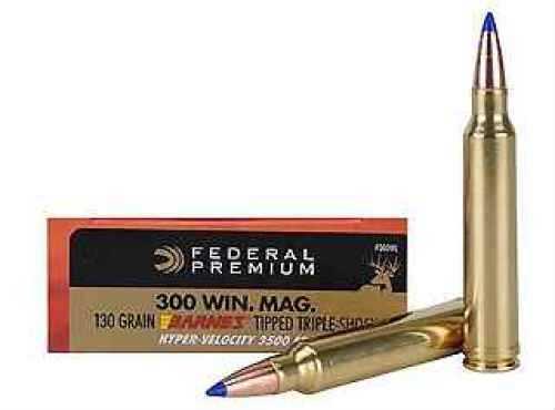 Federal 300 Winchester Magnum Premium 130Grain TSX V-Shock Ammunition Md: P300WL