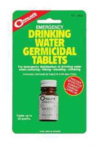 COGHLANS Emergency Germicidal Drinking Water Tablets Md: 7620