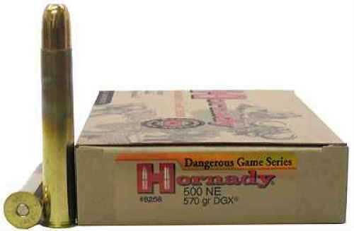 Hornady 500 Nitro Express 570 Grain DGX (Per 20) Md: 8268 Ammunition