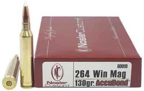Nosler Trophy 264 Winchester 130 Grain Accubond Per 20 Ammunition Md: 60019