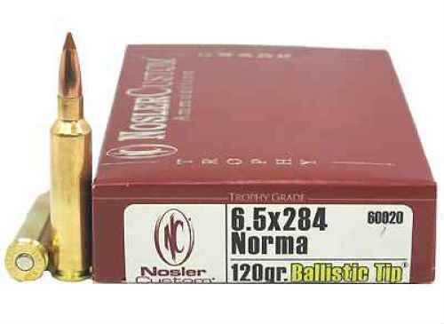 Nosler Trophy 6.5X284 Norma 120 Grain Ballistic Tip Per 20 Ammunition Md: 60020