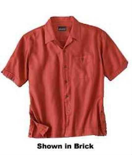 Woolrich Men's Short Sleeve Shirt Tropical Black Large Md: 44445-Bk-L