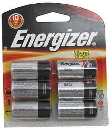 123 Lithium Batteries 6-Pack Md: ECR123BP-6