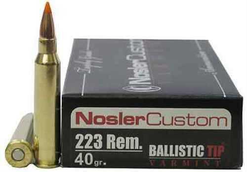 Nosler 223 Remington, Trophy Ammunition 40 Grain Ballistic Tip (Per 20) Md: 60001
