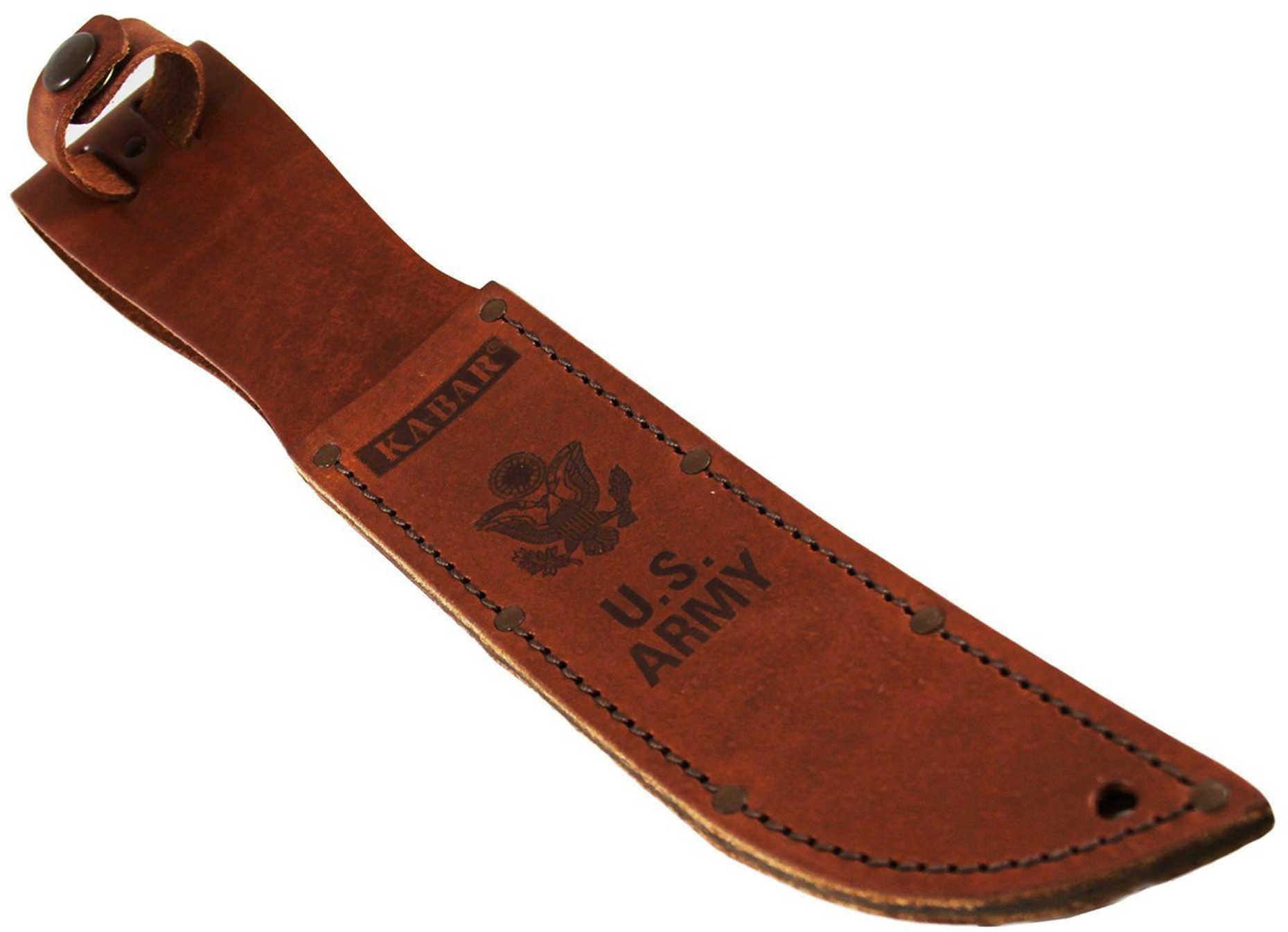 Ka-Bar Leather Sheath Army Logo, Brown Md: 3-1220S-5