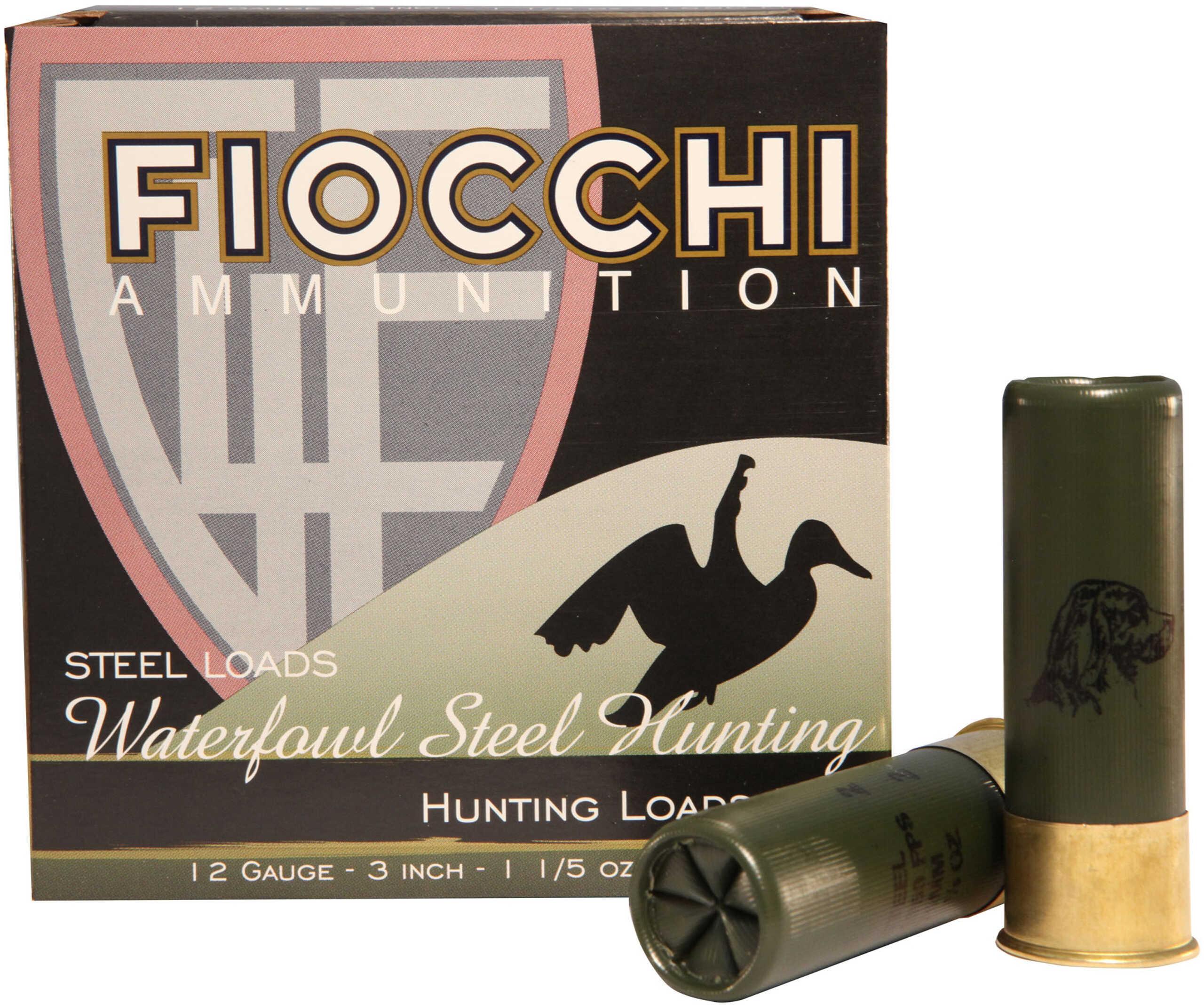 Fiocchi Speed Steel 12 Gauge 3 Inch 1-1/5 Ounce #2 Shot Shotshells, 25 Rounds Per Box