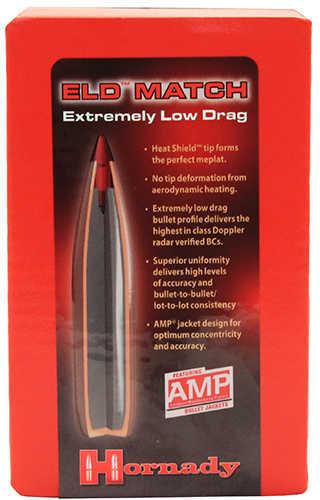 Hornady ELD Match Bullets 6.5mm (264 Diameter) 140 Grain Boat Tail Reloading Bullets, 100 Per Box Md: 26331