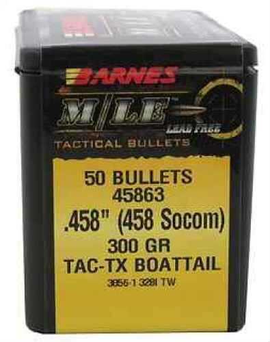 Barnes Bullets 458 Socom 300 Grains TACTX BT Bullet Per 50 Md: 45863