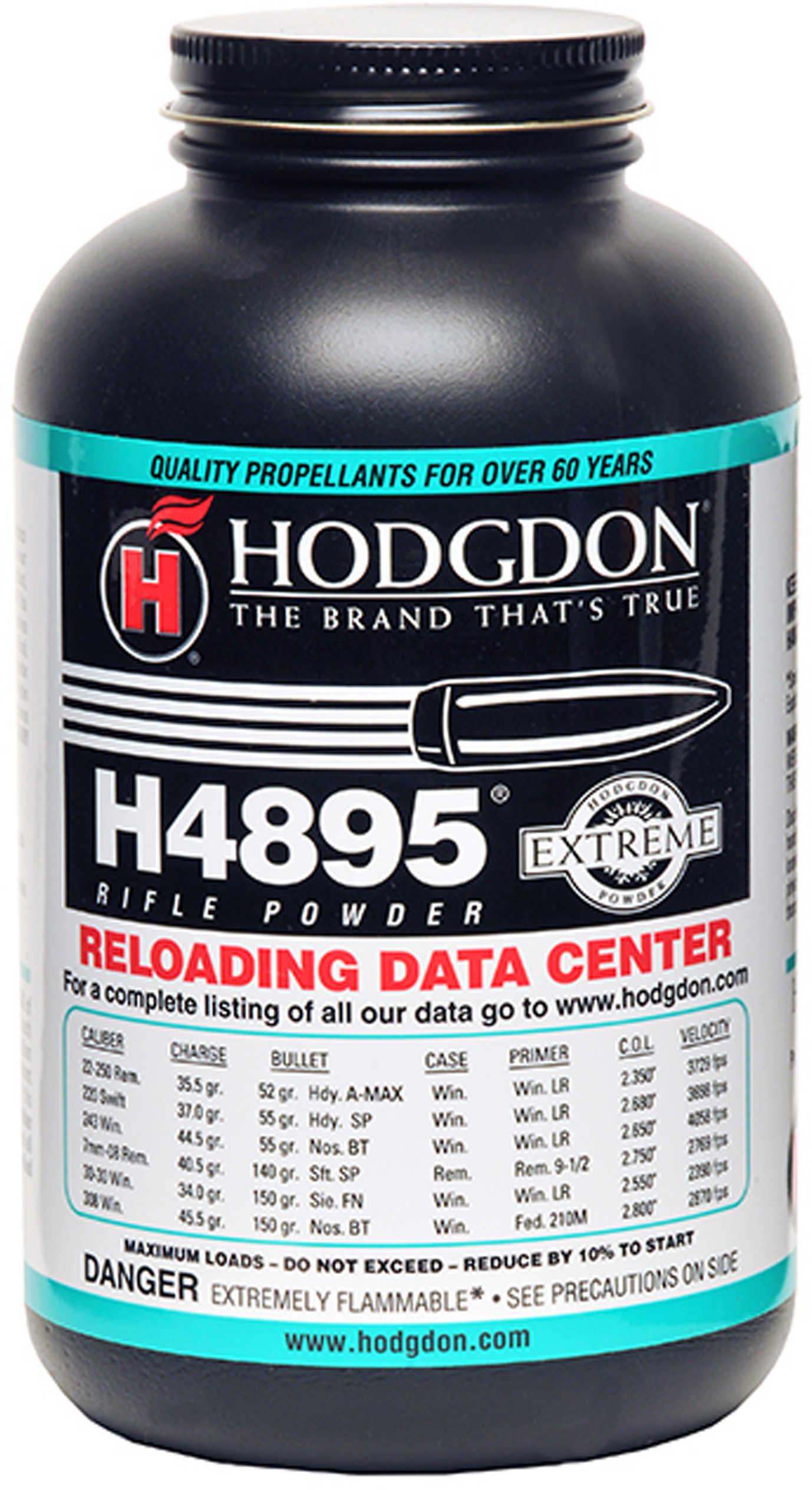 Hodgdon Powder H4895 Smokeless 1 Lb