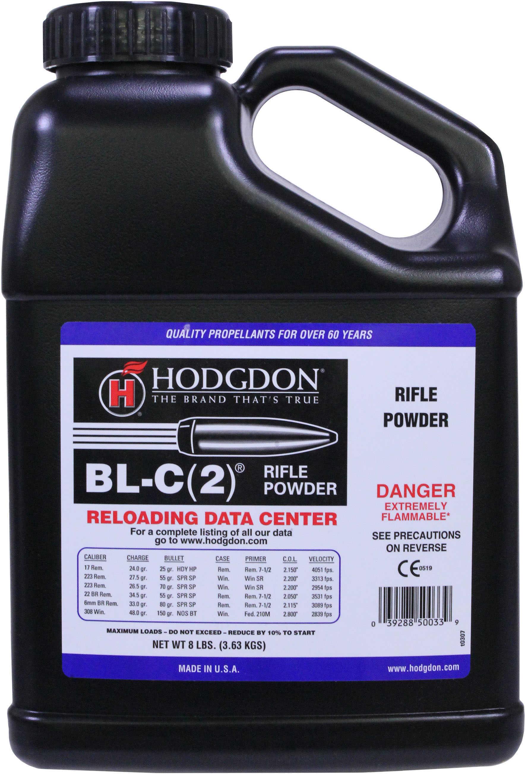 Hodgdon Powder Bl-C(2 Smokeless 8 Lb