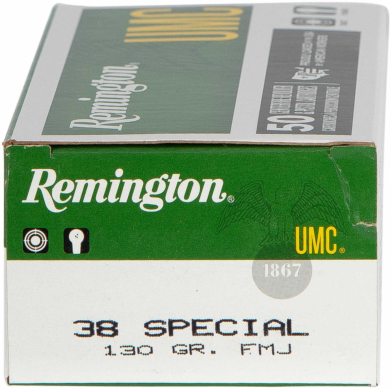 38 Special 130 Grain FMJ 50 Rounds Ammunition Remington