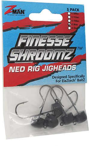Z-Man Finesse Shroomz Jighead 1/6Oz 5Pk Black Model: FJH16-02PK5