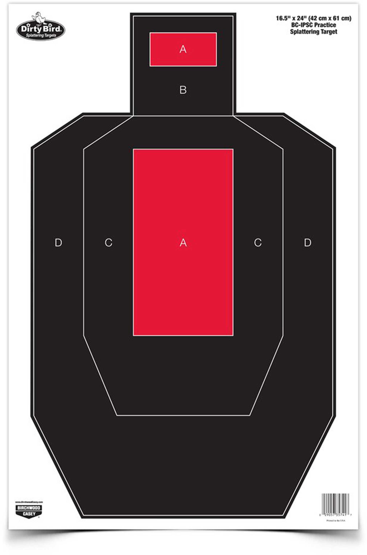"Birchwood Casey Dirty Bird 16.5"" x 24"" BC-IPSC Practice Target 3 Targets 35743"
