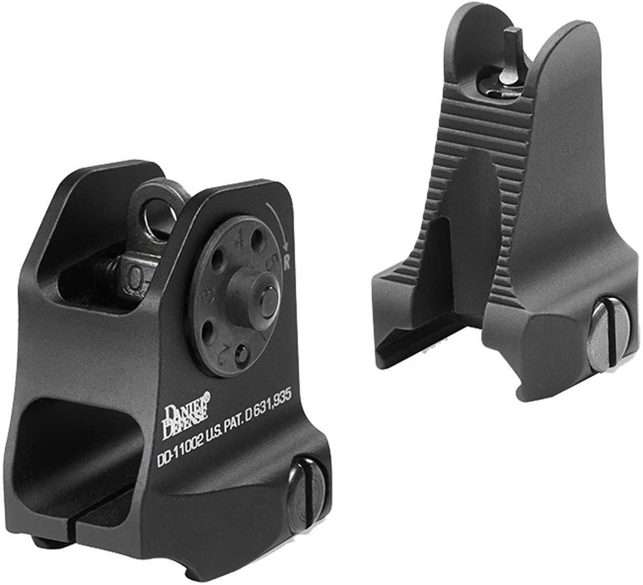 Daniel Defense 1908809116 Rock and Lock Fixed Front/Rear Sights AR-15 Aluminum Black