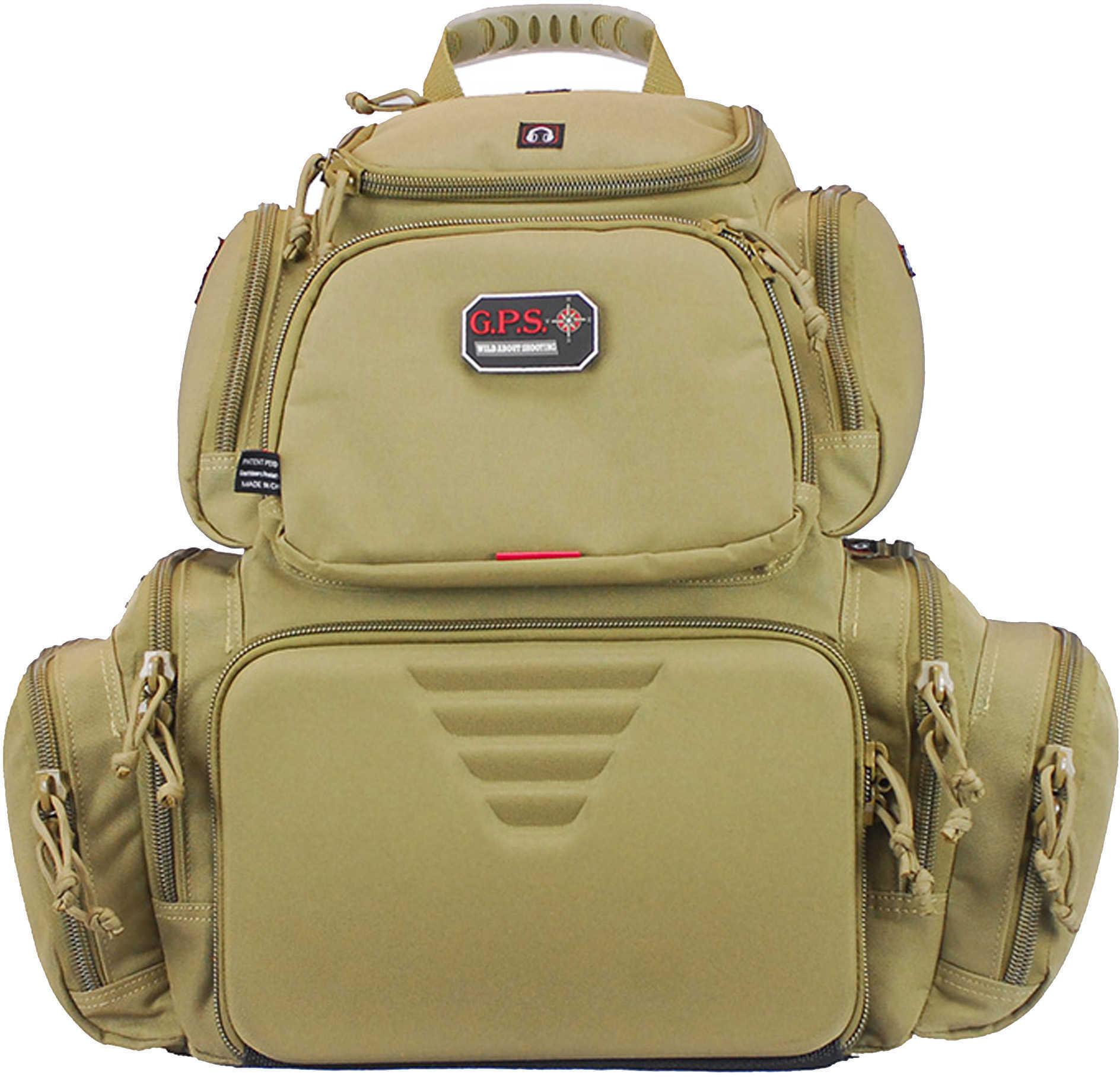 G*Outdoors 1711BPT Handgunner Tan Range Bag/Backpack